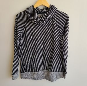 Lou & Grey Cowl Neck Striped Shirt